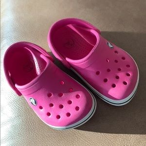 Crocs pink size 4/5